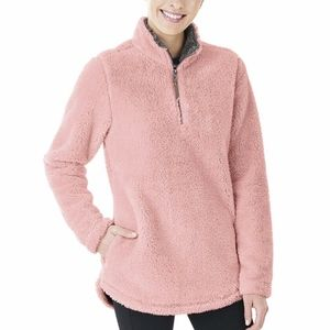 Charles River Sherpa Fleece Pullover pink M